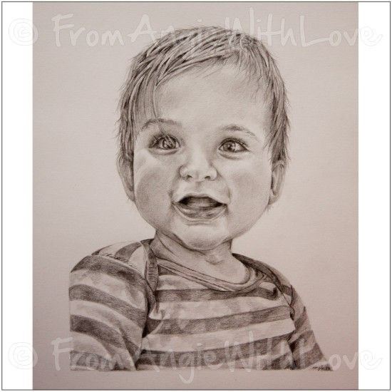 Alexander is one of a pair of child portraits who along with his brother felix i was asked to draw as a birthday gift at just 17 months old