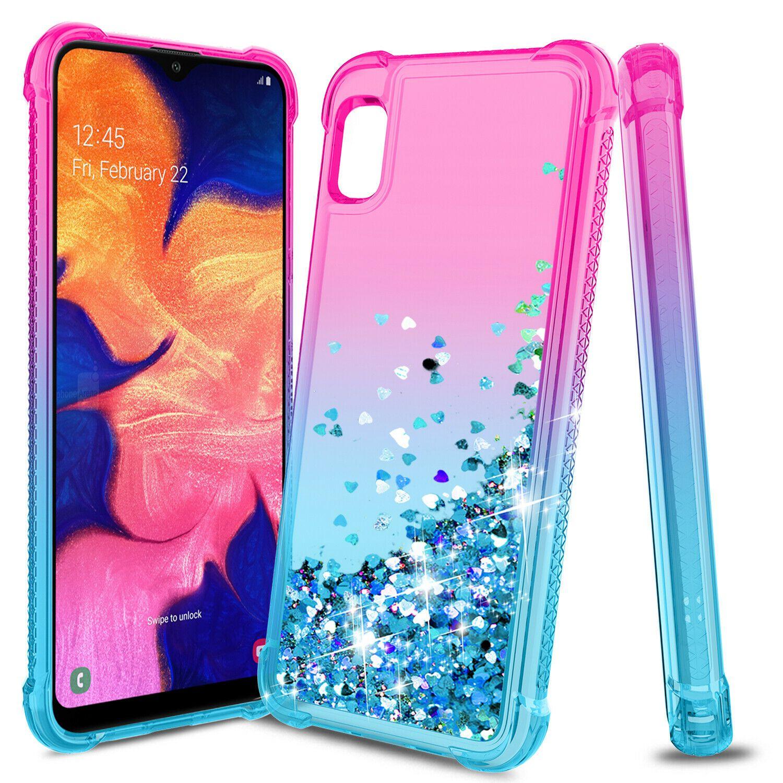 For Samsung Galaxy A10e Case Liquid Glitter Diamond TPU Clear Armor Rugged  Cover | Pink phone cases, Girl phone cases, Phone cases