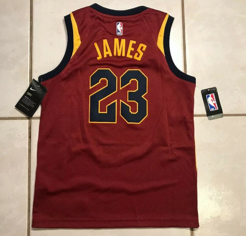 cheap for discount b99f5 17112 Details about NWT NIKE SWINGMAN Cleveland Cavaliers Lebron ...