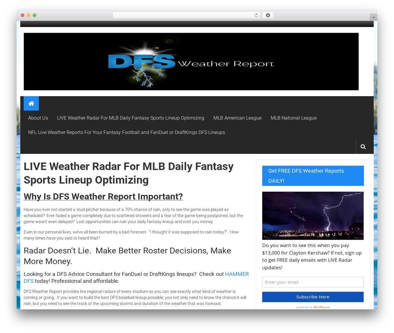 ColorNews WordPress magazine theme - dfsweatherreport com