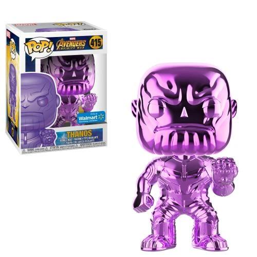 FUNKO POP MARVEL AVENGERS INFINITY guerre Chrome Violet Thanos 415 édition spéciale