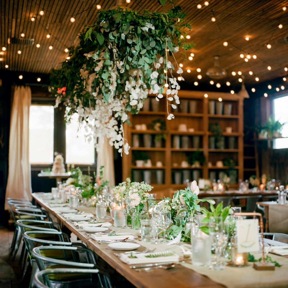 Botanical inspired quaker ceremony and reception at terrain floral