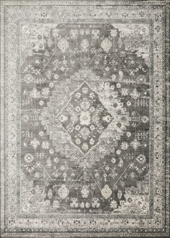 Loloi Rugs Grifgf 023353 Griffin 5 1 4 X 3 1 4 Rectangle Viscose Power Loomed Charcoal Home Decor Rugs Area Rugs Loloi Rugs Rugs