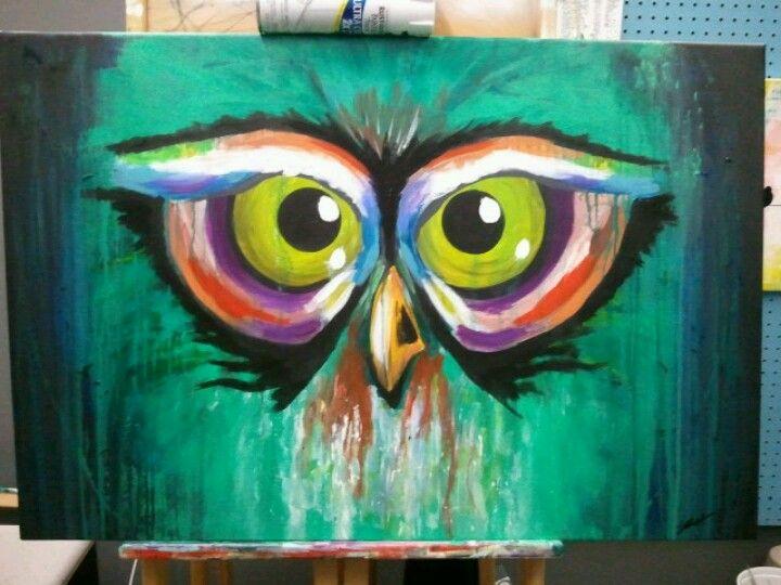 Abstract owl. 24x36. acrylic on canvas | artsy fartsy ...