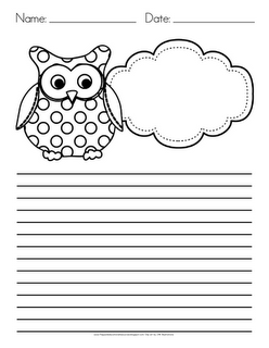 Classroom Freebies Owl Writing Paper Freebie