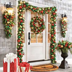 Christmas Decor - Holiday Decorations - Grandin Road   Holiday Doors ...