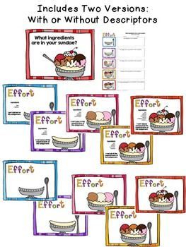 Effort Rubric Posters Student SelfAssessment  School