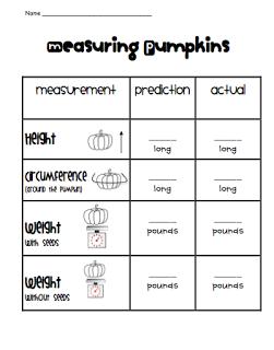 Pumpkin Freebies Teachin Kids Pinterest First Grade Math And