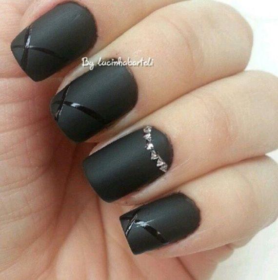 Fotos De U 241 As Color Negro Black Nails 45 Ejemplos Pintar U 241 As Black Nails Black Nails