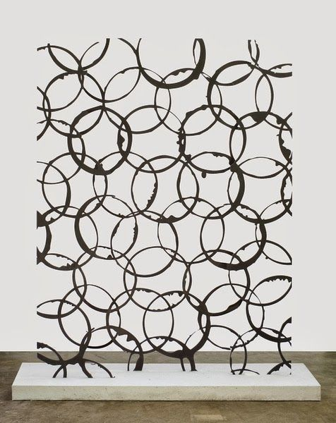 #Art - Anthony Pearson Untitled (Transmission), 2012 Stainless steel, sandblasted white Portland cement http://decdesignecasa.blogspot.it