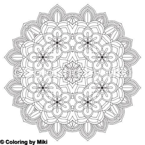 Flower Mandala Coloring Page 189 Mandalas Pinterest Mandala