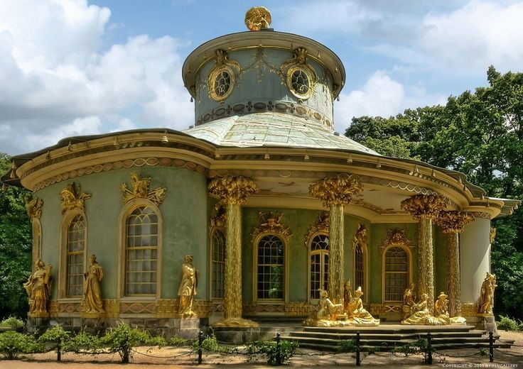 Chinese Tea House - Potsdam, Germany, another example of Rococo elements and Chinese architecture.
