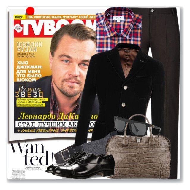 """""""Best Dressed: Leonardo Di Caprio"""" by coraline-marie ❤ liked on Polyvore featuring Polaroid, Emporio Armani, Giorgio Armani, Falke, Dolce&Gabbana, men's fashion and menswear"""