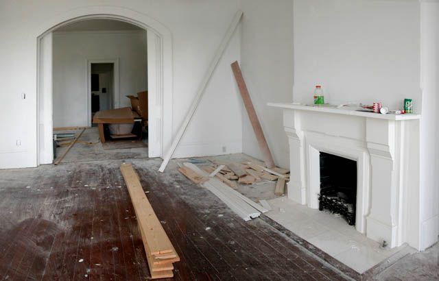 victorian arched doorway | ... , mantel, fireplace, pocket doors, victorian home, arched door frame