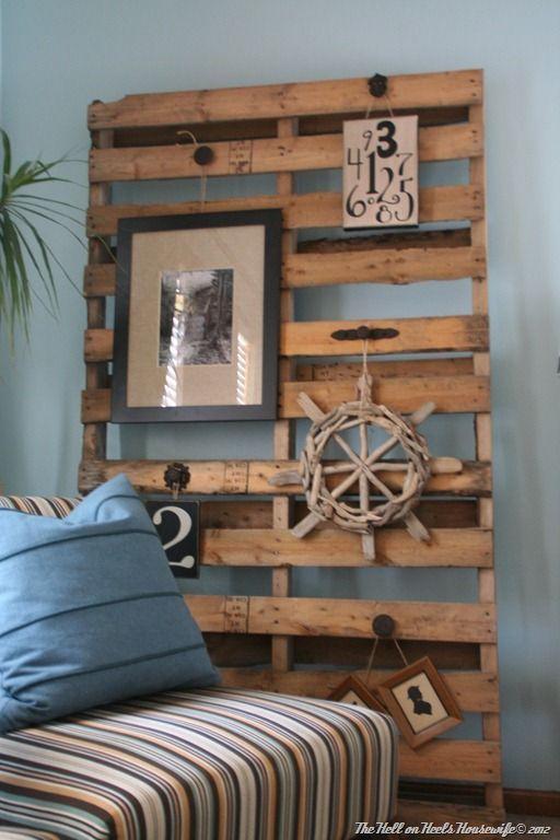 Inpiraci n n utico palet decoraci n de paredes con - Decorar paredes con palets ...