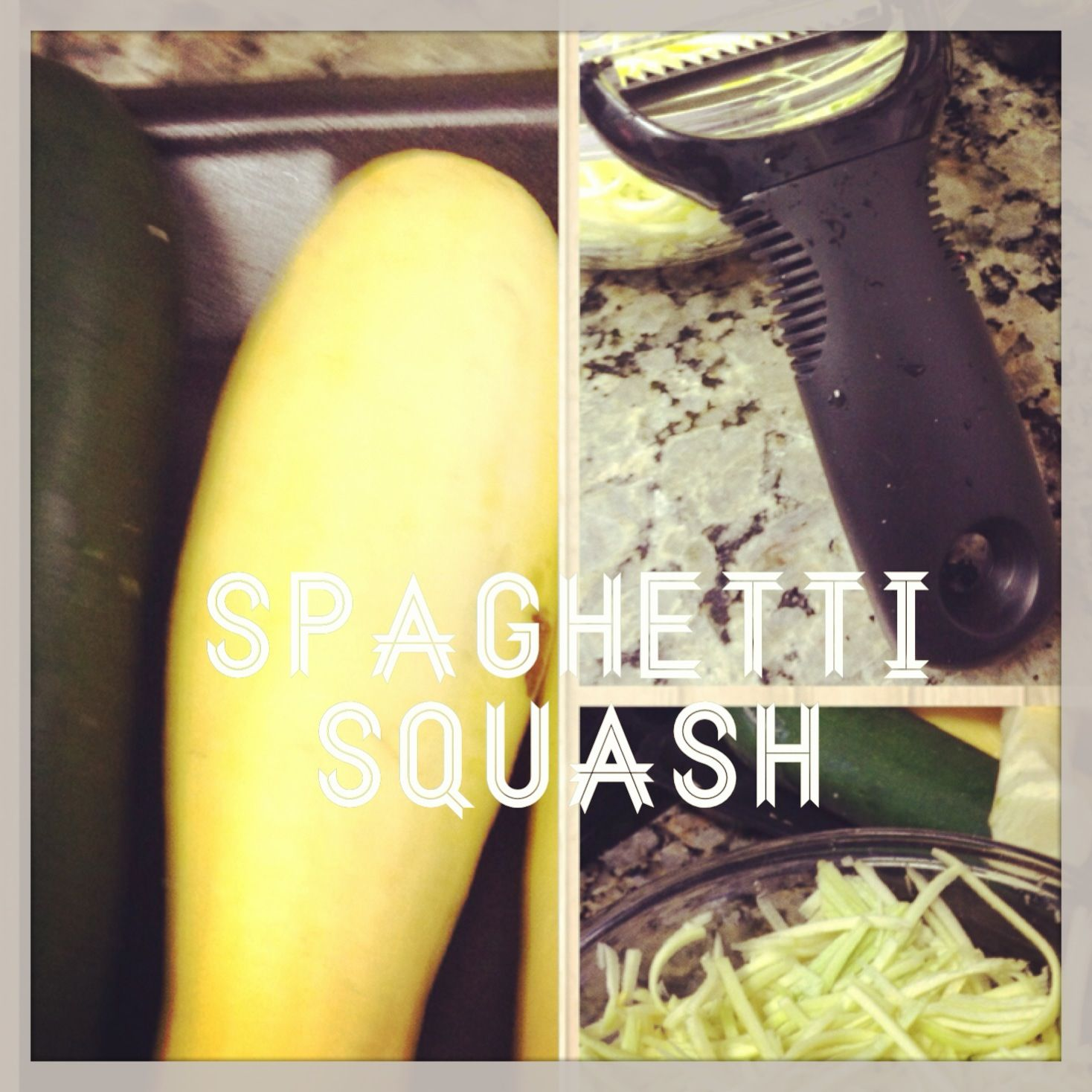 Spaghetti squash with julienne peeler