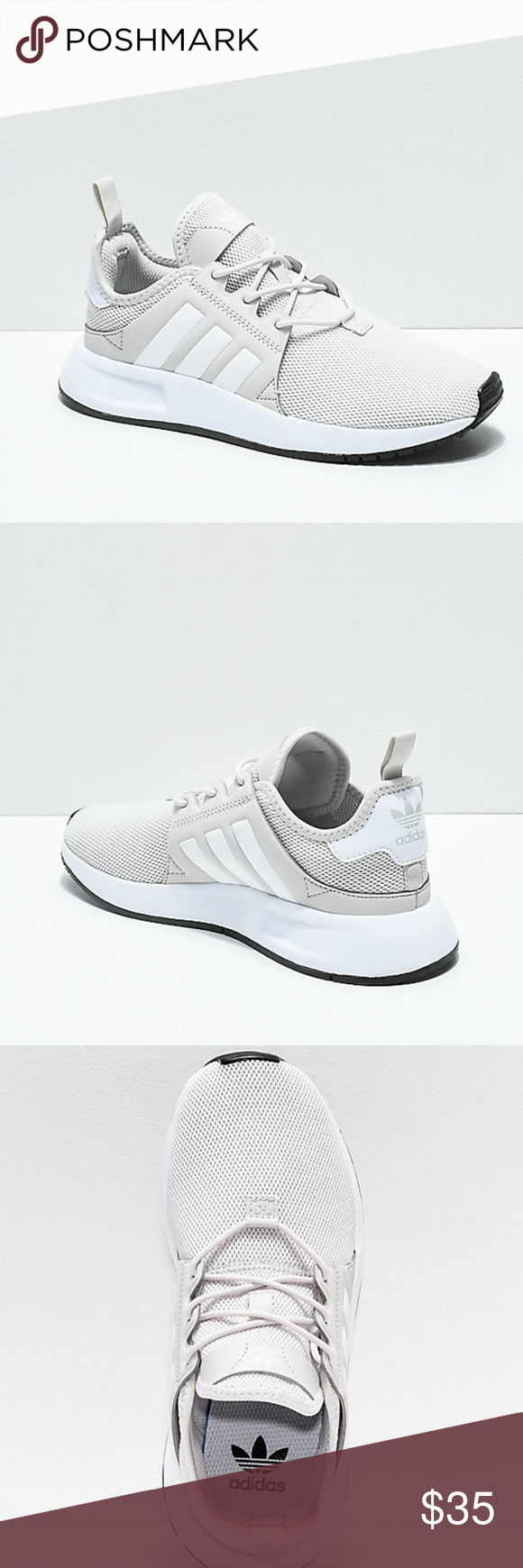 adidas Xplorer Light Grey \u0026 White Shoes