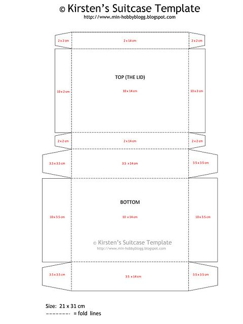 suitcase template (for a suitcase out of craft paper ...