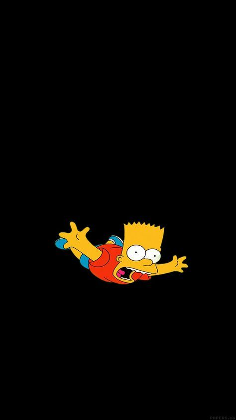 Papersco Ag70 Bart Simpson Funny Cute Illlust 4 Wallpaper 640x1 136