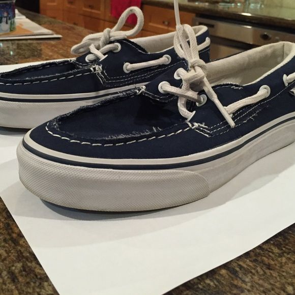 a7847ed0be Vans boat shoes Navy blue boat shoes size 6.5 mens 8 women s. Worn a few  times but good condition. Vans Shoes Sneakers