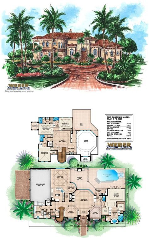 Mediterranean House Plan Luxury 2 Story Mediterranean Floor Plan in