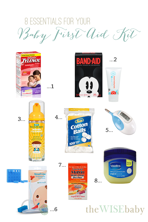 8 Essentials For Your Baby First Aid Kit