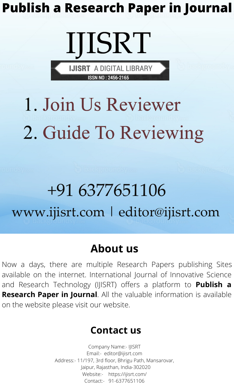 Selected Research Papers Sites Ijisrt Research Paper Printing Business Cards Digital Library
