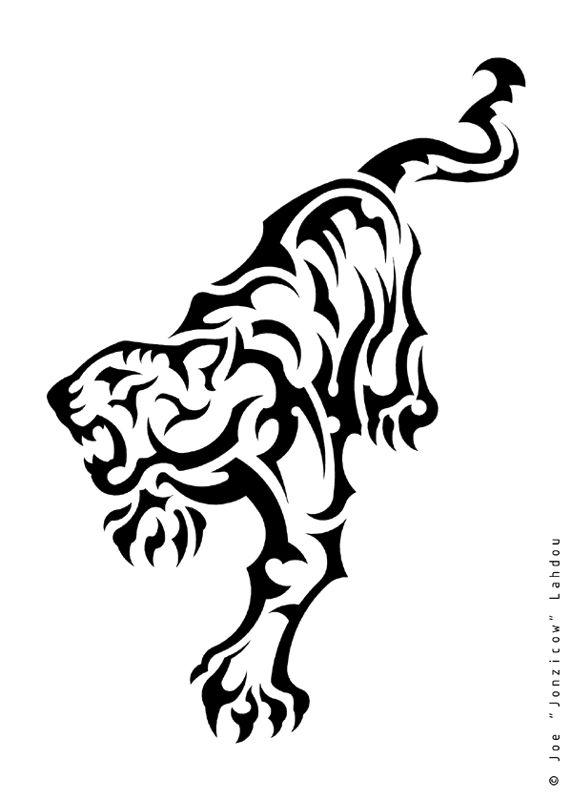 Love The Tribal Tiger Design Tiger Tiger Tattoo Tattoos