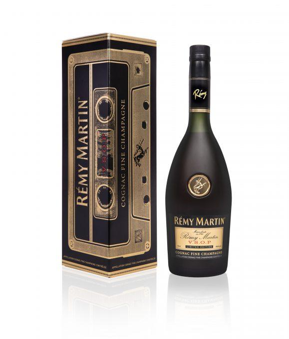 Remy Martin Reintroduces Iconic Vsop Bottle Design Celebrating Music Culture Bevnet Com In 2021 Cognac Remy Martin Black And Gold Theme