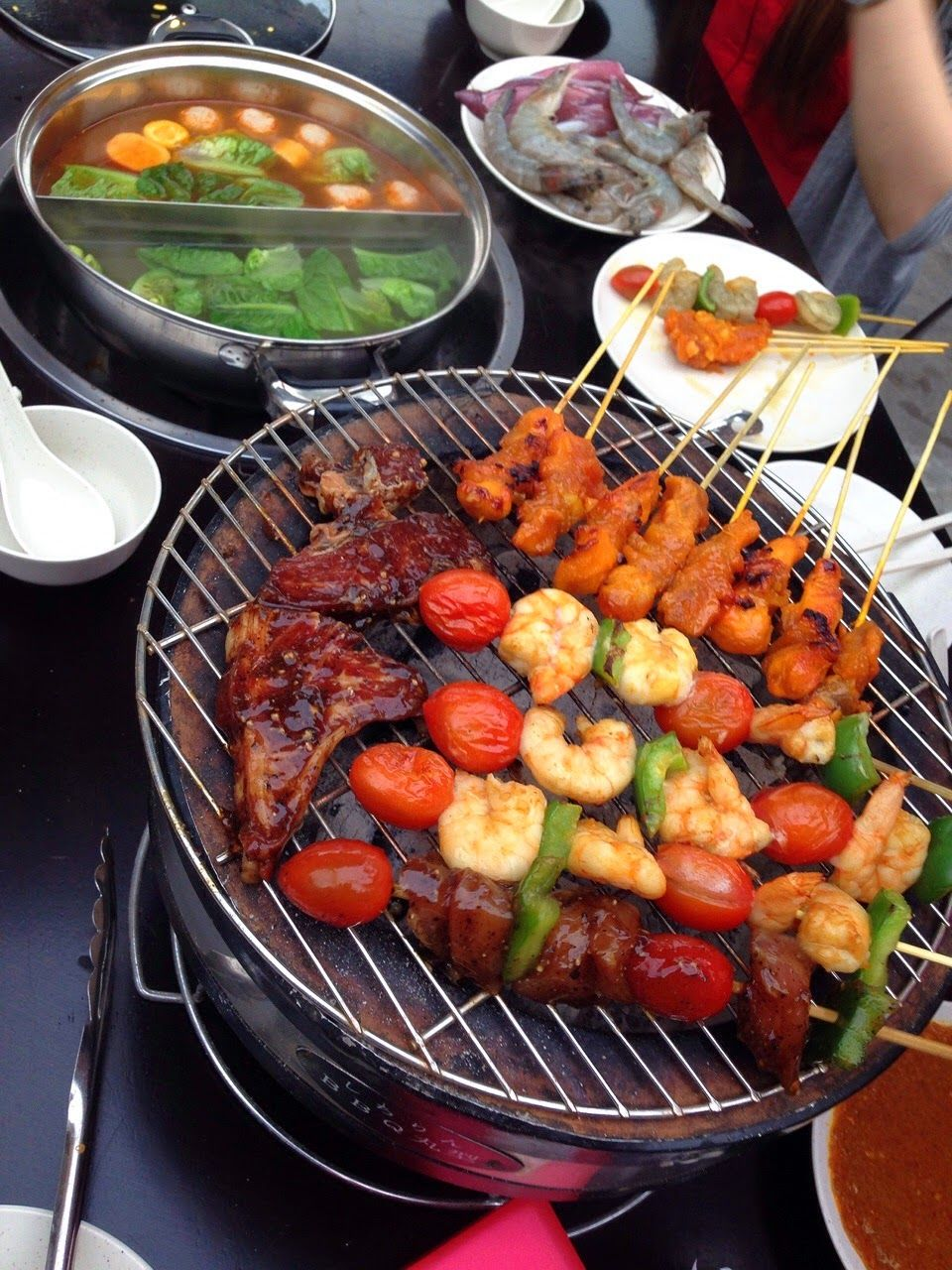 27 04 S Happy City Steamboat Bbq Kepong Happy City Bbq Food