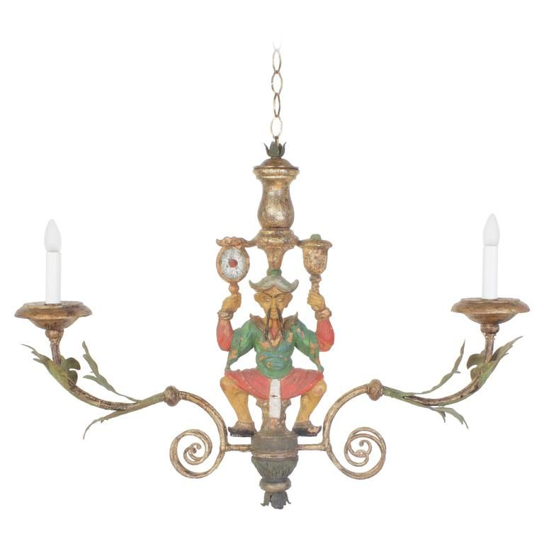 Rare antique italian chinoiserie chandelier or light fixture rare antique italian chinoiserie chandelier or light fixture aloadofball Choice Image