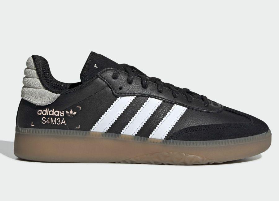 new concept 0c6fb 0ffb6 Adidas Samba RM Shoes - Core Black  Ftwr White  Clear Orange