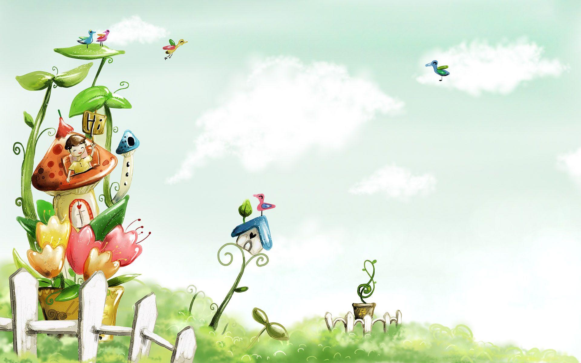 Download Spring Cartoon Landscape Wallpaper Animated #58229838 ...
