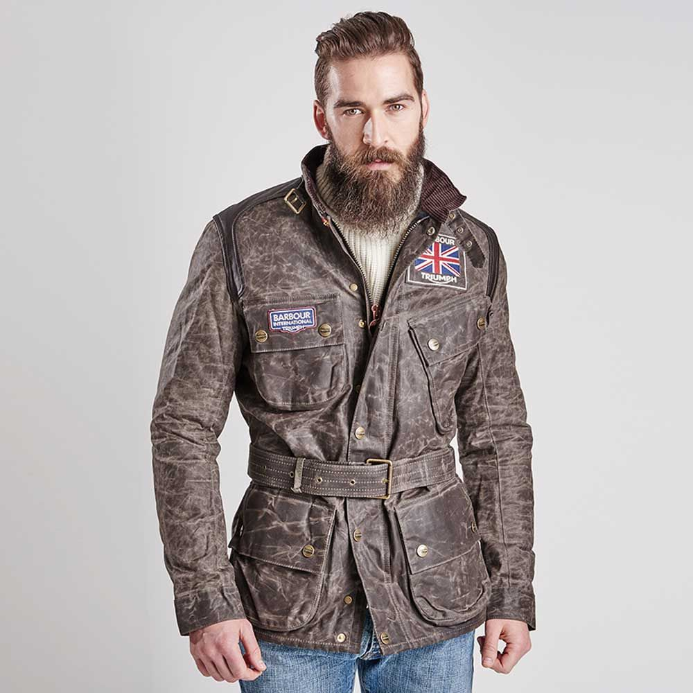 part of the barbour international x triumph collaboration, the