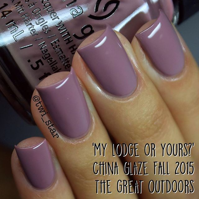 China Glaze Fall 2015 My lodge or yours ?
