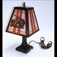 Harley-Davidson Art Glass Table Lamp