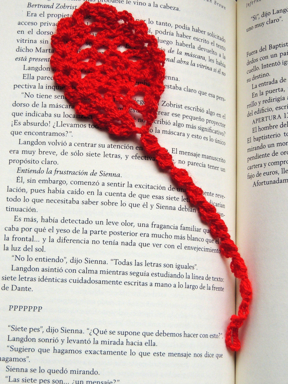 Crochet : Marcador de Libros # 2 | MARCADORES DE LIBROS | Pinterest ...