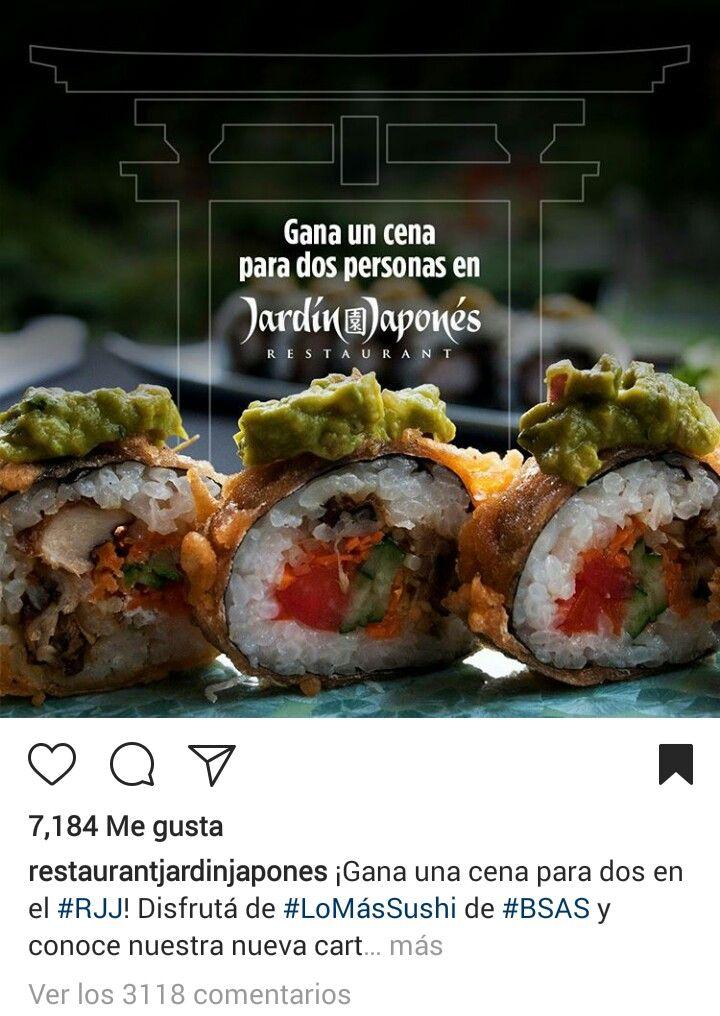 Cliente: Restaurant Jardín Japonés. (Argentina)  Concurso para Instagram  (Conceptualización de pieza, redacción de copy, monitoreo y reporte de resultados)  Objetivo: Aumentar el número de seguidores  Alcance: 16000 personas aprox. (5000 seguidores nuevos)
