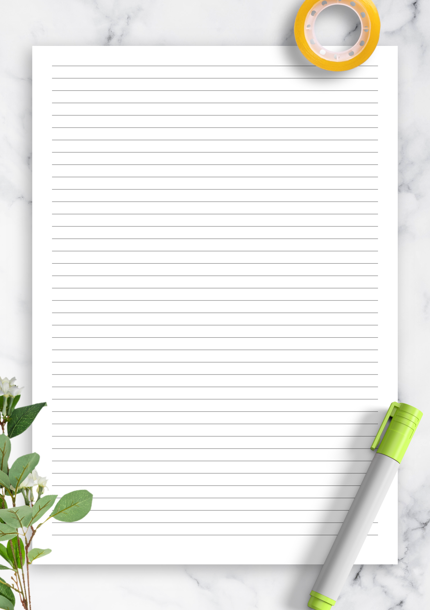 Printable Lined Paper Template With 5 Mm Line Height Choose Page Size And Download For Fr Notebook Paper Template Paper Template Paper Template Free Printable