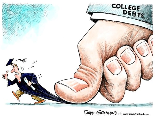 Image result for student loan cartoon