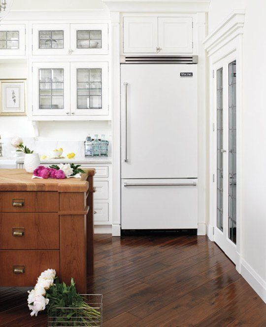 beyond stainless steel white kitchen appliances plus love the warm wood floor and wooden - Non Stainless Steel Appliances