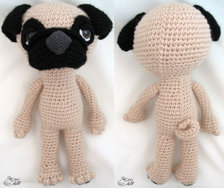 Dyzu the Amigurumi Pug Dog | Amigurumi patterns, Handmade toys and ...