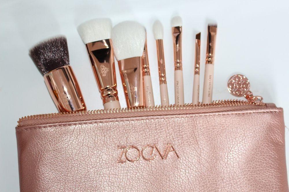 ZOEVA Makeup Rose Golden Luxury Set VOL 2. 8 Pinsels + Clutch