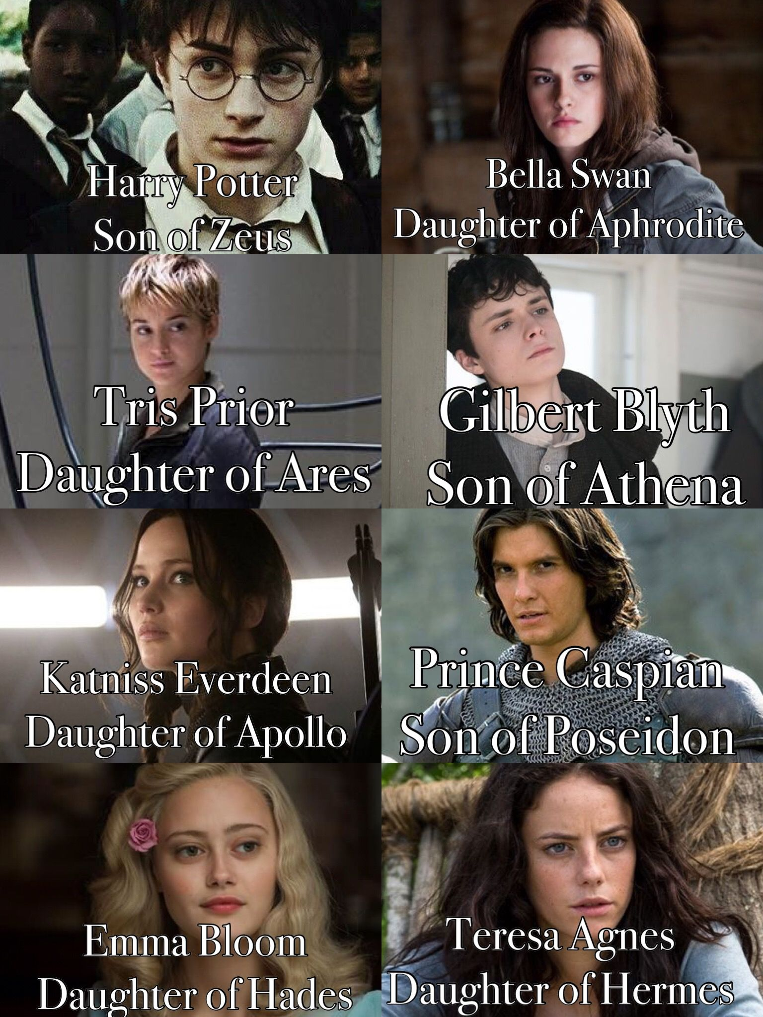 If These Heroes Were Demigods Harry Potter Twilight Harry Potter Kids Harry Potter Crossover