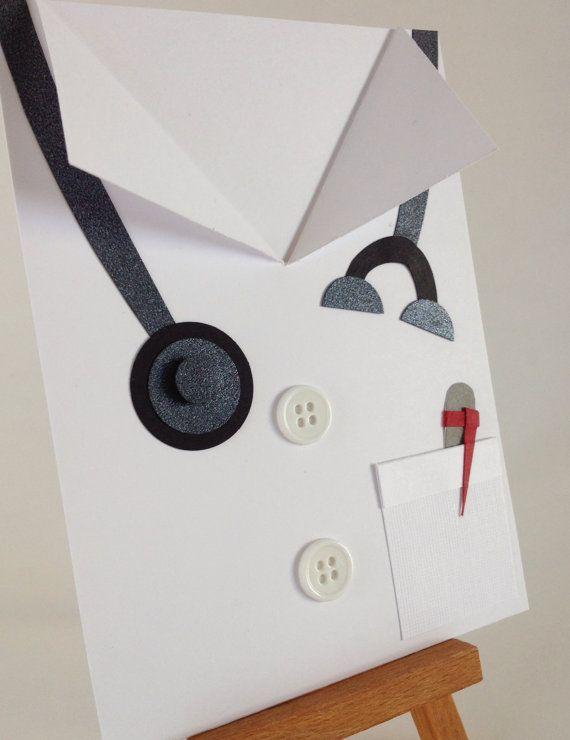 doctor card white coat ceremony med school graduation gift doctor