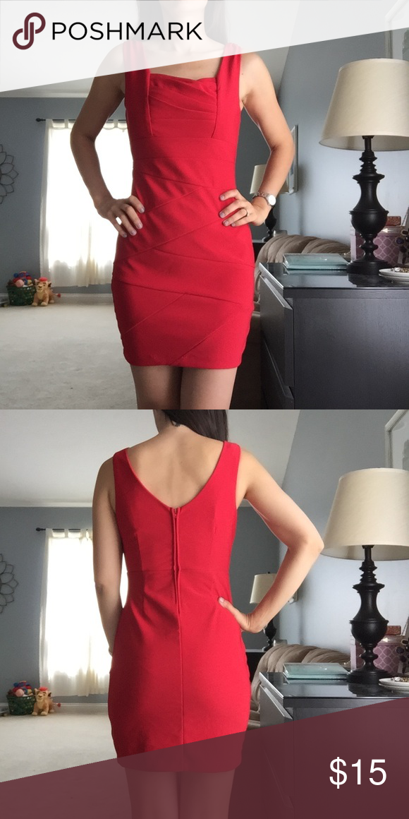 fd17eab7006 Red Mini Dress Red sexy mini dress. Perfect for girls night out. stretchy.