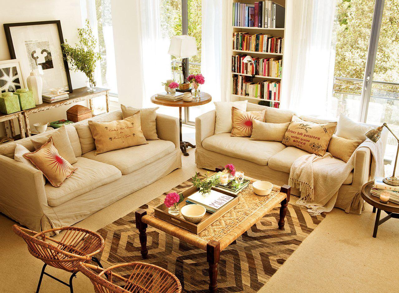 En casa de la decoradora Marta Tobella  Salon maison