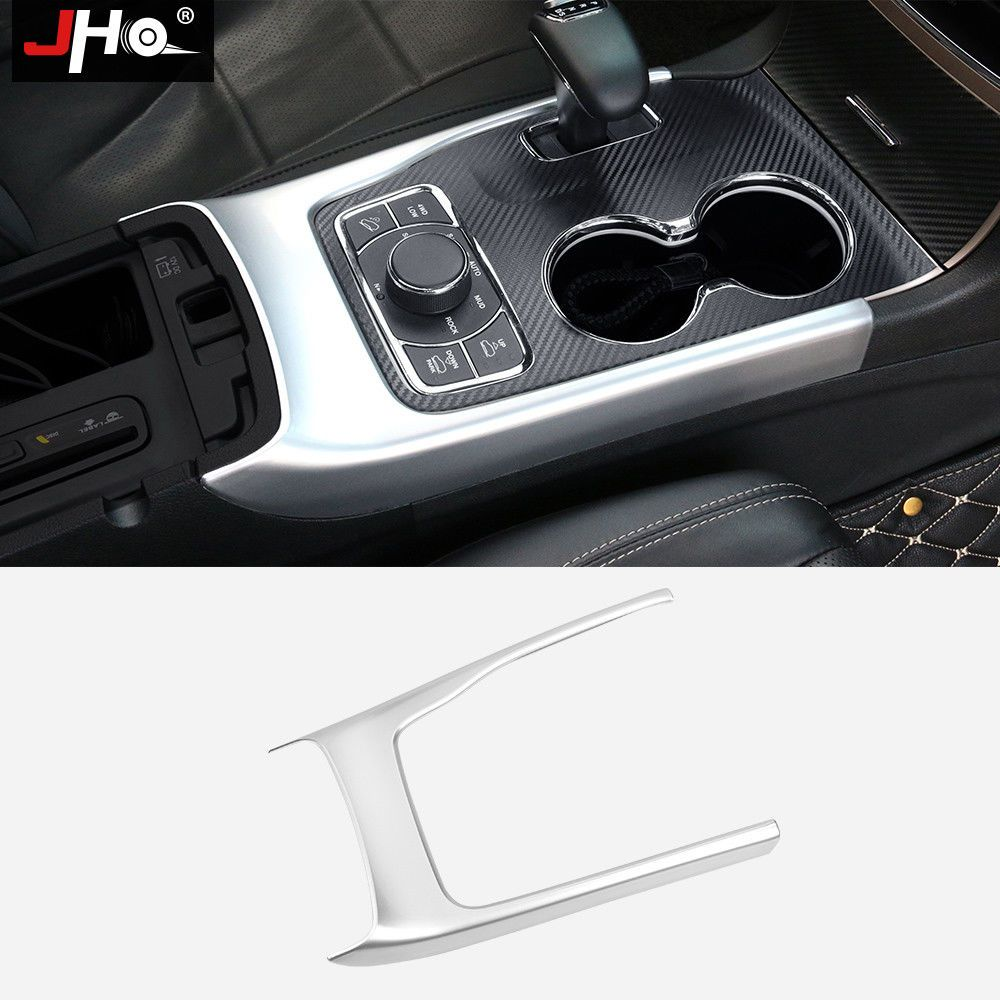 Chrome Interior Gear Shift Frame Cover Trim For Jeep Grand