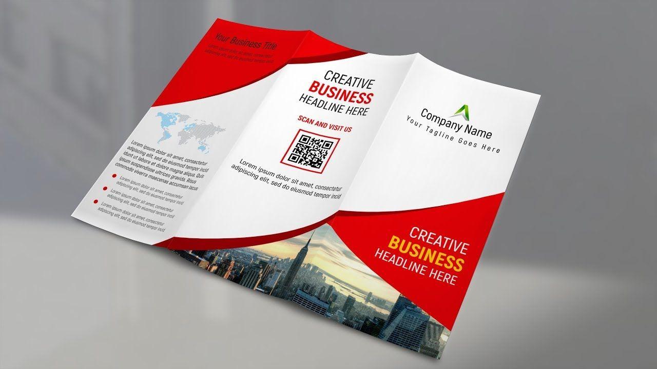A4 Trifold Brochure Design Photoshop Cc Tutorial Trifold Brochure Design Trifold Brochure Template Trifold Brochure