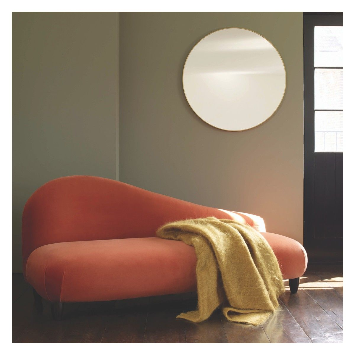 Patsy Large Round Gold Wall Mirror D82cm Buy Now At Habitat Uk